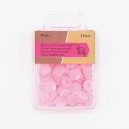 Doos met 30 drukknoppen - baby roze