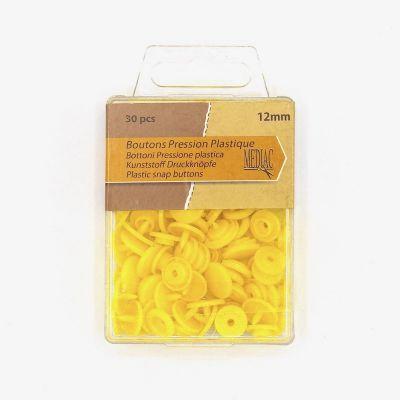 Boîte de 30 boutons pressions jaune
