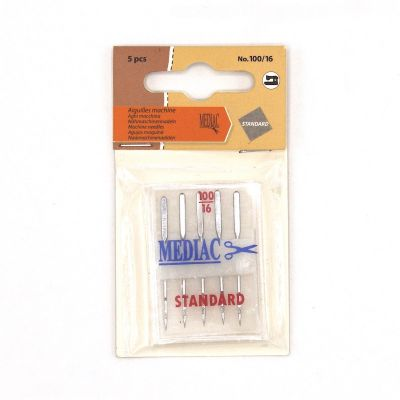 Needle for sewing machine n°100/16