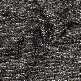 Tissu laine à bouclettes - anthracite