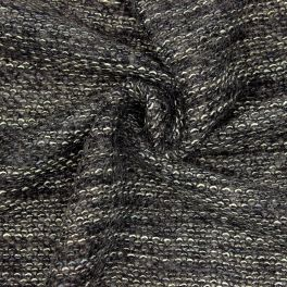 Wool with loops - antracite