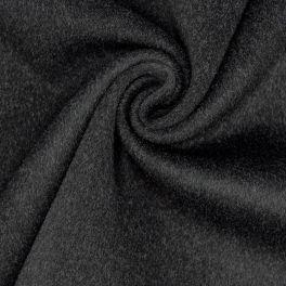 Wool with felt aspect - black