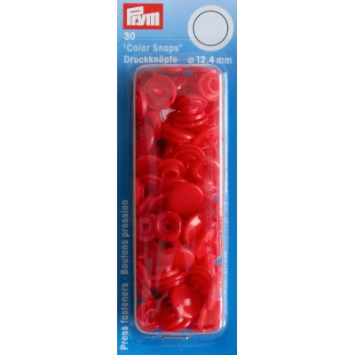 Boîte de 30 boutons pressions rouges