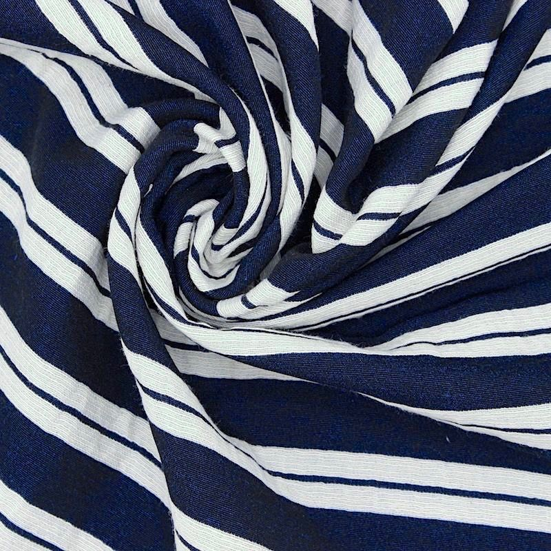 Double sided striped polyester jacquard fabric