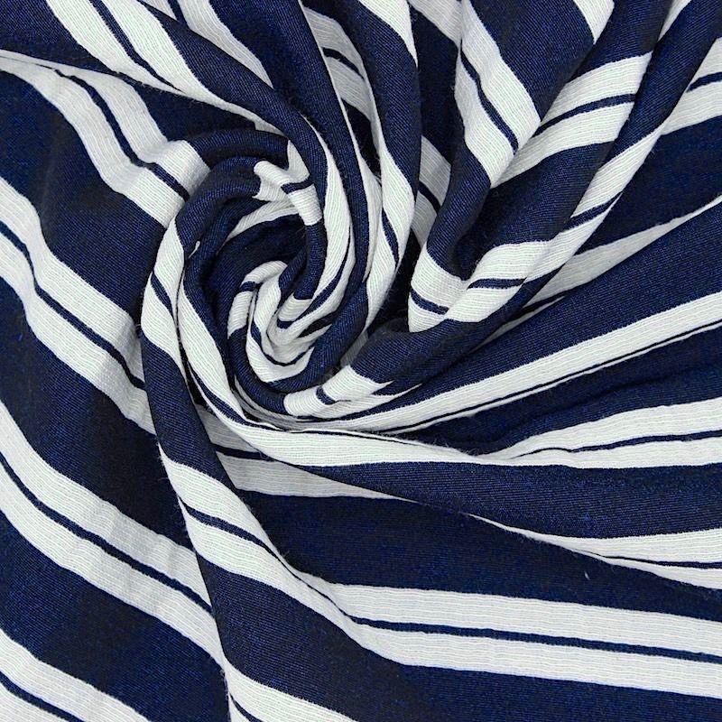 Tweezijdig gestreept polyester Jacquardstof