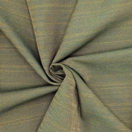 Rekbaar gestreepte stof kaki visgraatdessin