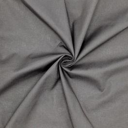 Tissu cretonne uni  - gris anthracite