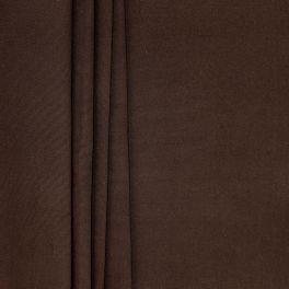 Tissu en coton uni marron