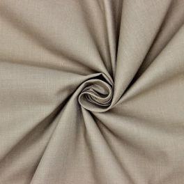 Tissu en coton et polyester gris souris