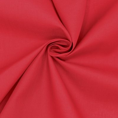 Fabric in cotton and polyester - cherry red