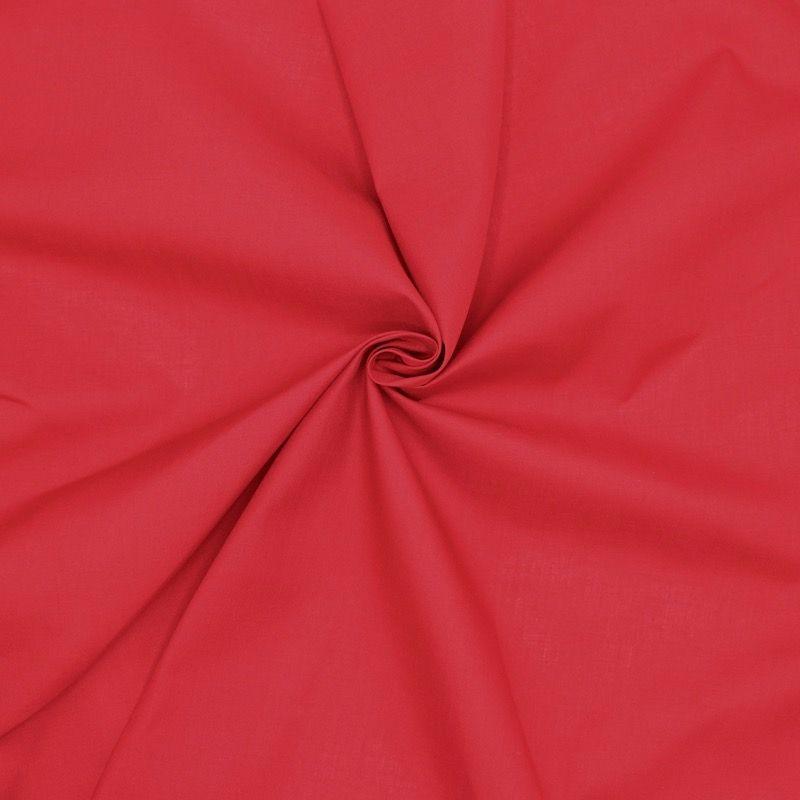 Tissu en coton et polyester cerise
