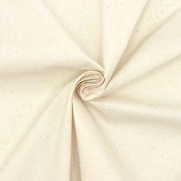 Tissu en coton et polyester écru