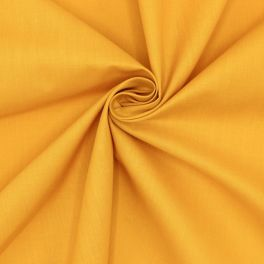 Fabric in cotton and polyester - mustard yellow