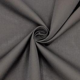 Tissu en coton et polyester anthracite