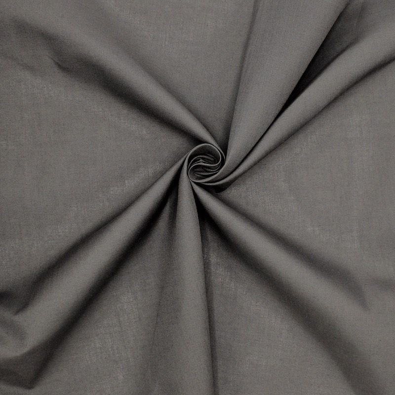 Stof in katoen en polyester - antraciet