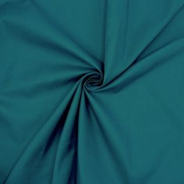 Fabric in cotton and polyester - peacock blue