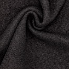 Fabric in wool and polyamide - black