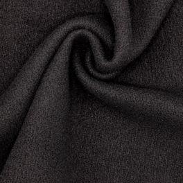Tissu en laine et polyamide - noir