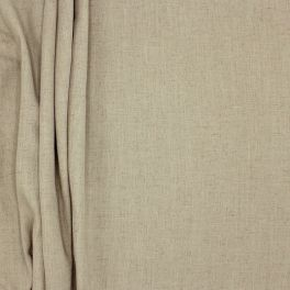 Upholstery fabric in polyester and linen - greige