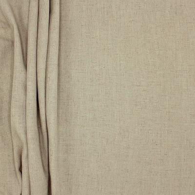 Tissu d'ameublement polyester et lin grège