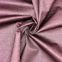 Polyester fabric with lurex ornament thread - pink