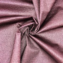 Stof in polyester met lurex versieringsdraad - roos