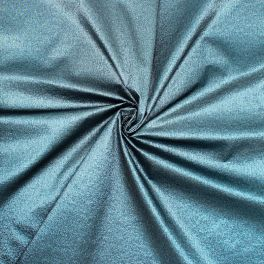 Embossed polyester fabric with floral print - blue