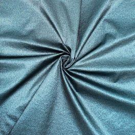 Stof in polyester met lurex versieringsdraad - blauw