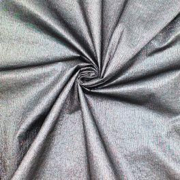 Stof in polyester met lurex versieringsdraad - zwart