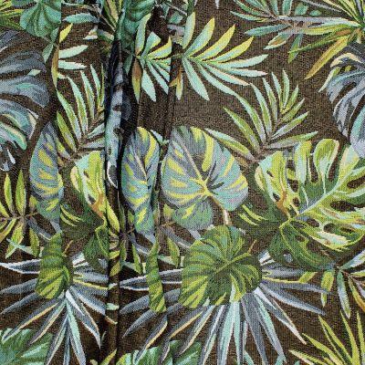 Tissu jacquard tropical - noir