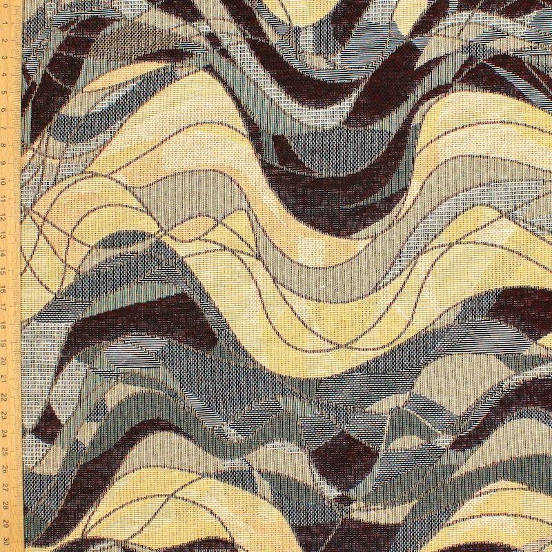 Tissu jacquard vague- noir