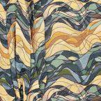 Tissu jacquard vague- bleu