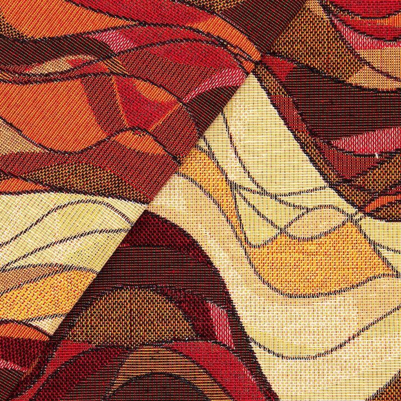 Tissu jacquard vague- mokka