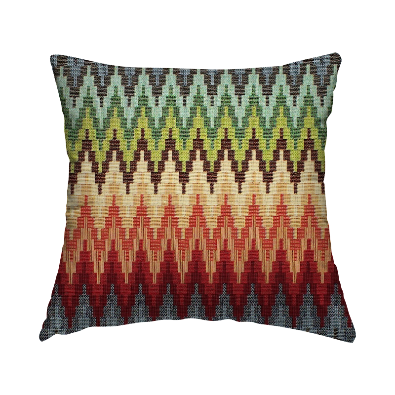 Jacquard fabric with pattern - multicolored