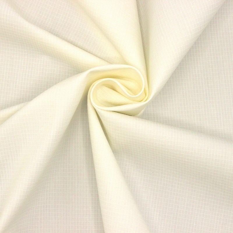 Toile rip stop coton et polyester - blanc cassé