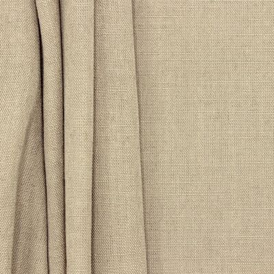 Fabric in polyester and linnen - sepia