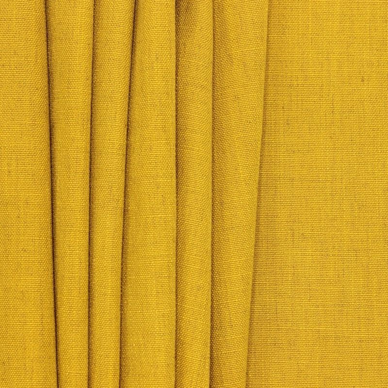 Upholstery fabric with linen aspect - ochre