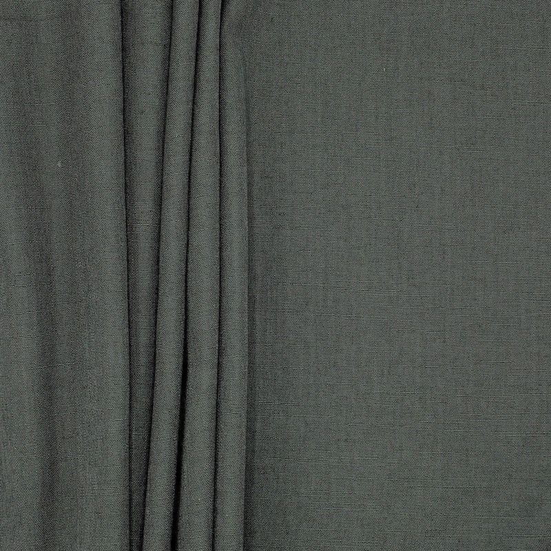 Tissu d'ameublement aspect lin ardoise