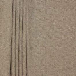 Tissu d'ameublement aspect lin taupe