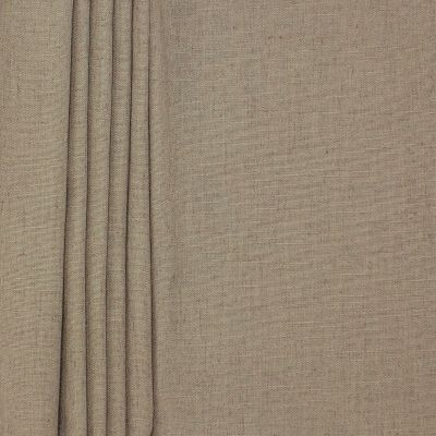 Upholstery fabric with linen aspect - taupe