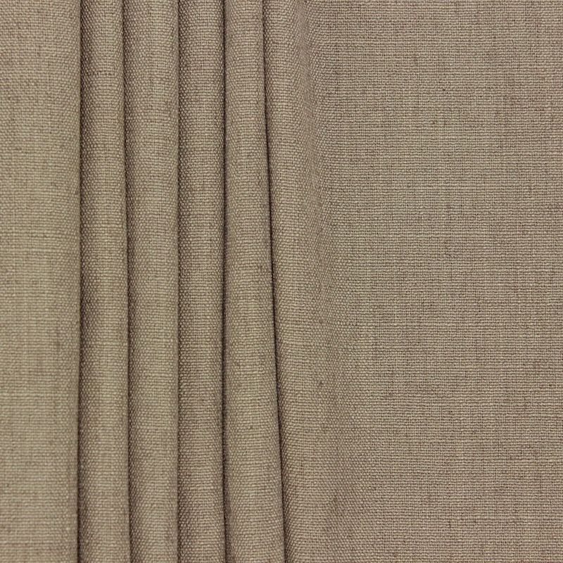Meubelstof in polyester en linnen - greige