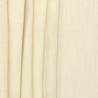 Tissu d'ameublement aspect lin blanc cassé