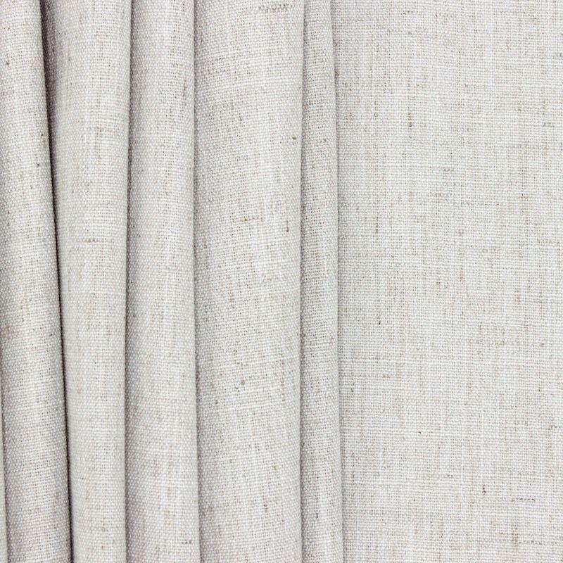 Tissu d'ameublement aspect lin gris