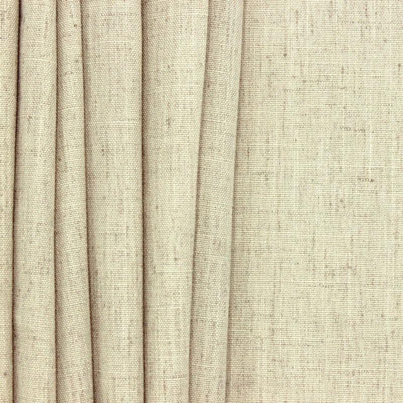 Tissu d'ameublement aspect lin beige