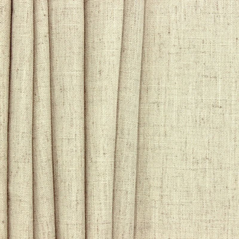 Upholstery fabric with linen aspect - beige