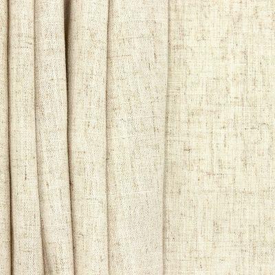 Tissu d'ameublement aspect lin écru