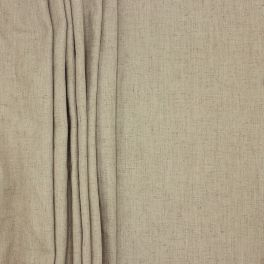 Upholstery fabric with linen aspect - sepia