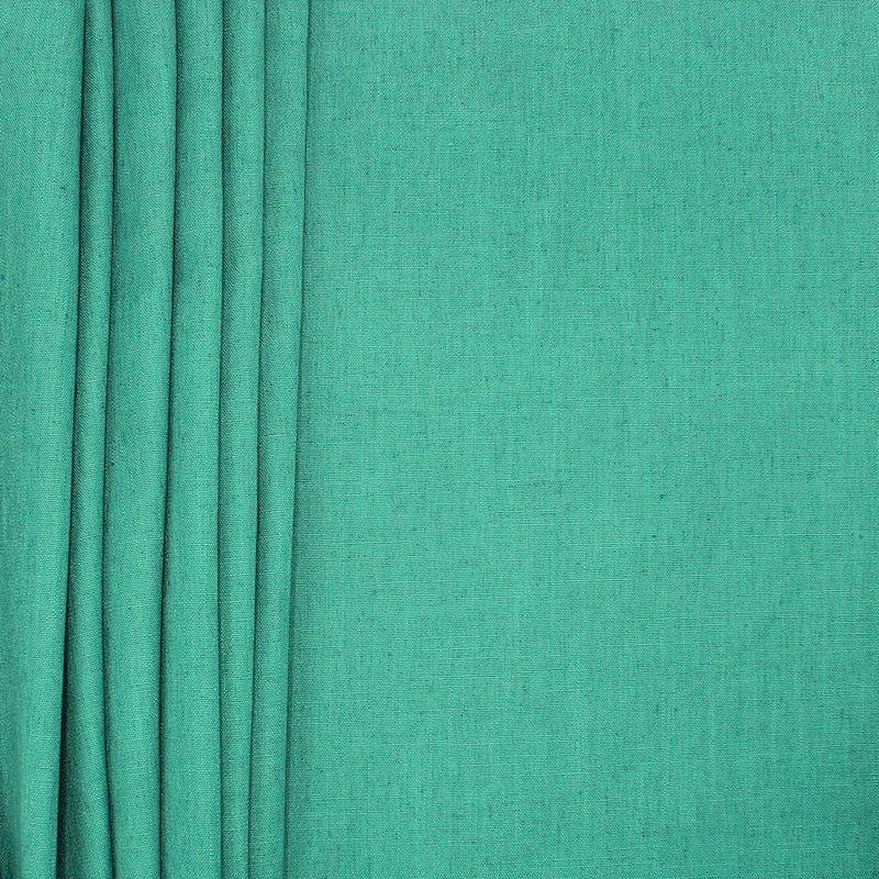 Tissu d'ameublement aspect lin vert