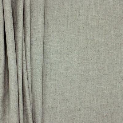 Tissu d'ameublement aspect lin gris souris