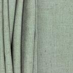 Tissu d'ameublement aspect lin vert de gris